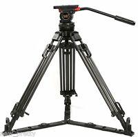 "66"" V12T Carbon Fiber Camera Tripod W/ Fluid Head 12KG FR Red Scarlet Epic ARRI"