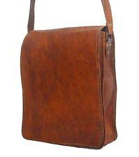 """11"""" Mens Leather satchel Vintage Leather messenger Bag Shoulder Bag 11"""""""