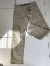 Mens Beige Cotton Jeans Size 36W/33L