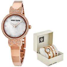 Anne Klein MOP Quartz Ladies Watch and Bracelet Set /3362RGST
