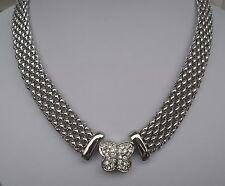 Halskette -  Collier - Florentinakette - Kristall Magnetverschluss 45 cm - NEU!