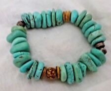Silpada Howlite Mahogany Seed Coconut Sterling Silver Accnet Bead Bracelet B1699
