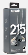 Shure SE215-CL Clear Sound Isolating In-Ear DJ Monitoring Headphones/Earphones