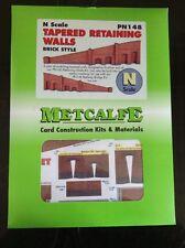 Metcalfe Kit PN148. Tapered Retaining Walls - Brick Style Kit.  N Scale.
