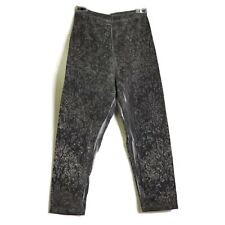 Unbranded Womens Leggings Pants Size Extra Small Gray Floral Design Stretch