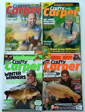 4 x Crafty Carper Magazines - Oct & Dec 2009 - Jun 2011 - Jul 2014