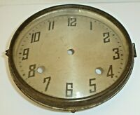 Antique New Haven No.76 Tambour Mantel Clock Dial, Bezel & Glass Crystal (Parts)