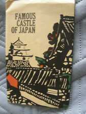 6 Postcards, Famous Castles of Japan, probably 1960s, With Folder