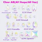 Glass All shape All Size Clear AB Crystal Flatback Sew On Rhinestones Beads Gem