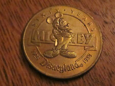 1988 Disneyland Sixty Years Mickey Mouse Bronze Coin Numbered In Sleeve # 063389