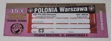 old ticket EL Polonia Warszawa NAC Breda 2009 Poland Holland