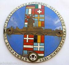 Plakette Kühler Autoplakette -Sternfahrt zur IAA Frankfurt/Main 1951- emailliert