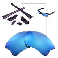 WL Polarized Ice Blue Lenses And Black Rubber Kit For Oakley Flak Jacket XLJ