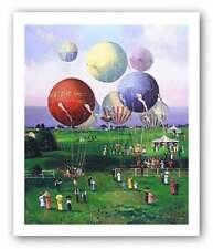 Balloons, Balloons Serigraph Sally Caldwell Fisher Art Print 38x32