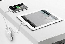 iLuv Rockwall Dual iPad/iPhone/iPod/Android USB Wall Charger IAD710WHT