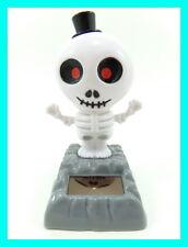 Solar Dancing Skull Novelty Toy Flip Flap Collectible Bobble Head Shake Dancer