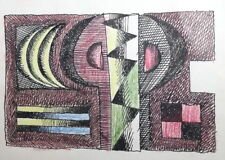 ABSTRACT CUBIST COMPOSITION VINTAGE INK DRAWING