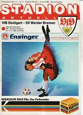BL 87/88 VfB Stuttgart - SV Werder Bremen
