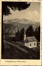Kaisergebirge Tirol alte Postkarte ~1920/30 Nusslbergkapelle gegen Wilden Kaiser