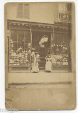 CABINET PHOTO DRYGOODS STORE FRONT WITH LAMPS POTS PANS BASKETS BROOMS NY