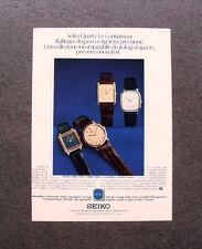 [GCG] M468 - Advertising Pubblicità - 1979 - SEIKO QUARTZ LE CONNAISSEUR