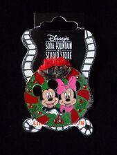 Disney Soda Fontaine Broche MICKEY ET MINNIE GUIRLANDE DE NOËL 2010 Le 300