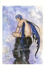 Amy Brown CONTEMPLATION Fairy Signed LE Print male boy nude man limited edition