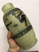 Loti Nancy Vase Ancien Pâte de Verre Art Deco Peint