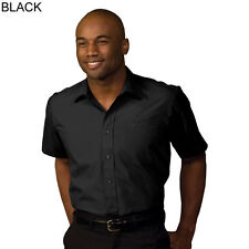 EDWARDS MENS 1313 SHORT SLEEVE BROADCLOTH SHIRT LARGE 16.5 BLACK NEW IN PACKAGE