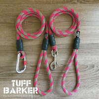 Pink Striped - Best Climbing Rope Dog Leash - Custom Dog Leads - Tuff Barker