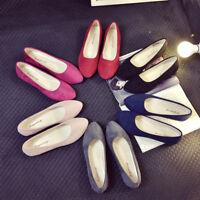 Women Slip On Flat Shoes Sandals Casual Candy Color Ballet Flats Pump Size 5.5-9