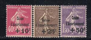 France Scott    B35  -  B37          Mint Hinged