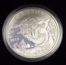 2014 $15 Fine silver-Exploring Canada - The pioneering Mapmarkers -w/Cao and Box
