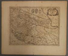 CROATIA BOSNIA BALKANS 1636 MERCATOR & HONDIUS ANTIQUE COPPER ENGRAVED MAP