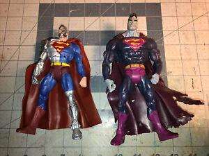 "DC Universe Classics Bizarro PURPLE VARIANT 6"" Plus Knockoff Cyborg Superman Lot"