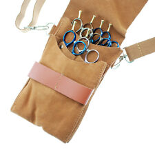 Suede Leather Hair Scissors Holster Pouch Bag Hairdressing Stylist Barber