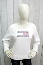 TOMMY HILFIGER Taglia L Maglione Donna Sweater Cotone Pullover Woman Maglietta