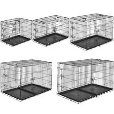 Cage pour chien box de transport métallique boîte cage parc à chiots canine