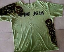 The Great China Wall  Green Shirt for Unisex  Size: XXL   $480