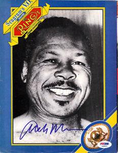 Archie Moore Authentic Autographed Signed Magazine Page Photo PSA/DNA COA S48860