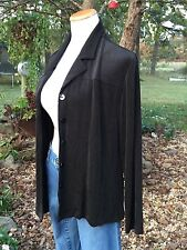 Chicos Travelers 3 Travel Knit Daniels Jacket Hot Fudge Brown Womens Size XL/16