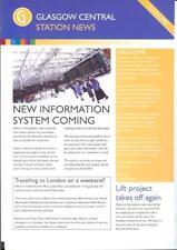 Glasgow Central Station News Autumn 2002 2 side A4 Strathclyde Railtrack admin
