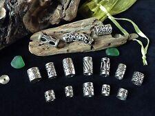 Dreadlock Beads **BUMPER MIX PACK** 15x Silver Dread Beads  5-6.5mm Hole Size UK