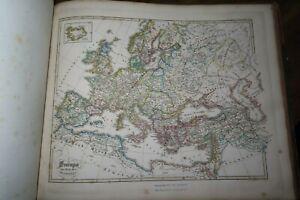1846 HISTORISCH GEOGRAPHISCHER HAND ATLAS 73 COL MAPS by SPRUNER DEUTSCHLAND