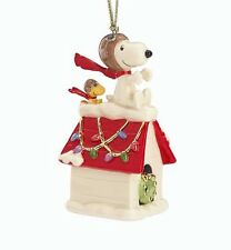 Lenox Snoopy's The Flying Ace Ornament PEANUTS NEW IN BOX