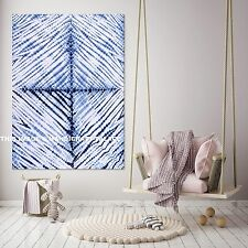 Hand Tie Dye Blue Indian Tapestry Hippie Wall Hanging Throw Bohemian Wall Decor