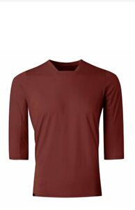 7Mesh Men's Optic Shirt Cycling 3/4 Size Medium Mahogany Sample