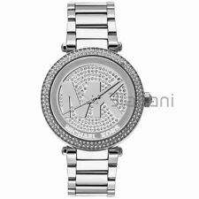Michael Kors Original MK5925 Women's Parker Silver Crystal Pave Steel Watch