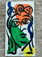 Peter Robert Keil painting on Masonite signed Face