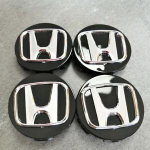 4Pcs For Honda Civic Accord CRV Black 69mm Wheel Emblem Hub Center Cap Badge